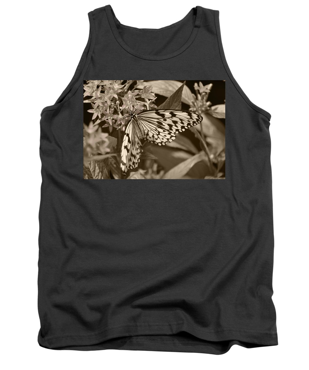 Paper Kite Tank Top featuring the photograph Paper Kite On Frangipani Flowers by Sandi OReilly