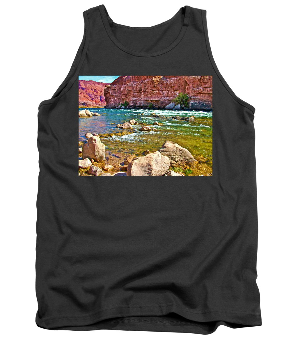 Pariah Riffle Near Lee's Ferry In Glen Canyon National Recreation Area Tank Top featuring the photograph Pariah Riffle Near Lee's Ferry In Glen Canyon National Recreation Area-arizona by Ruth Hager