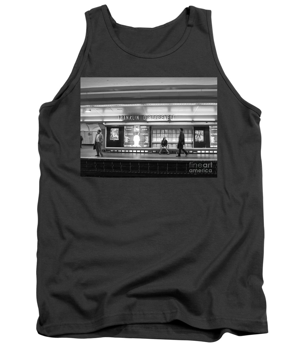 Paris Tank Top featuring the photograph Paris Metro - Franklin Roosevelt Station by Thomas Marchessault