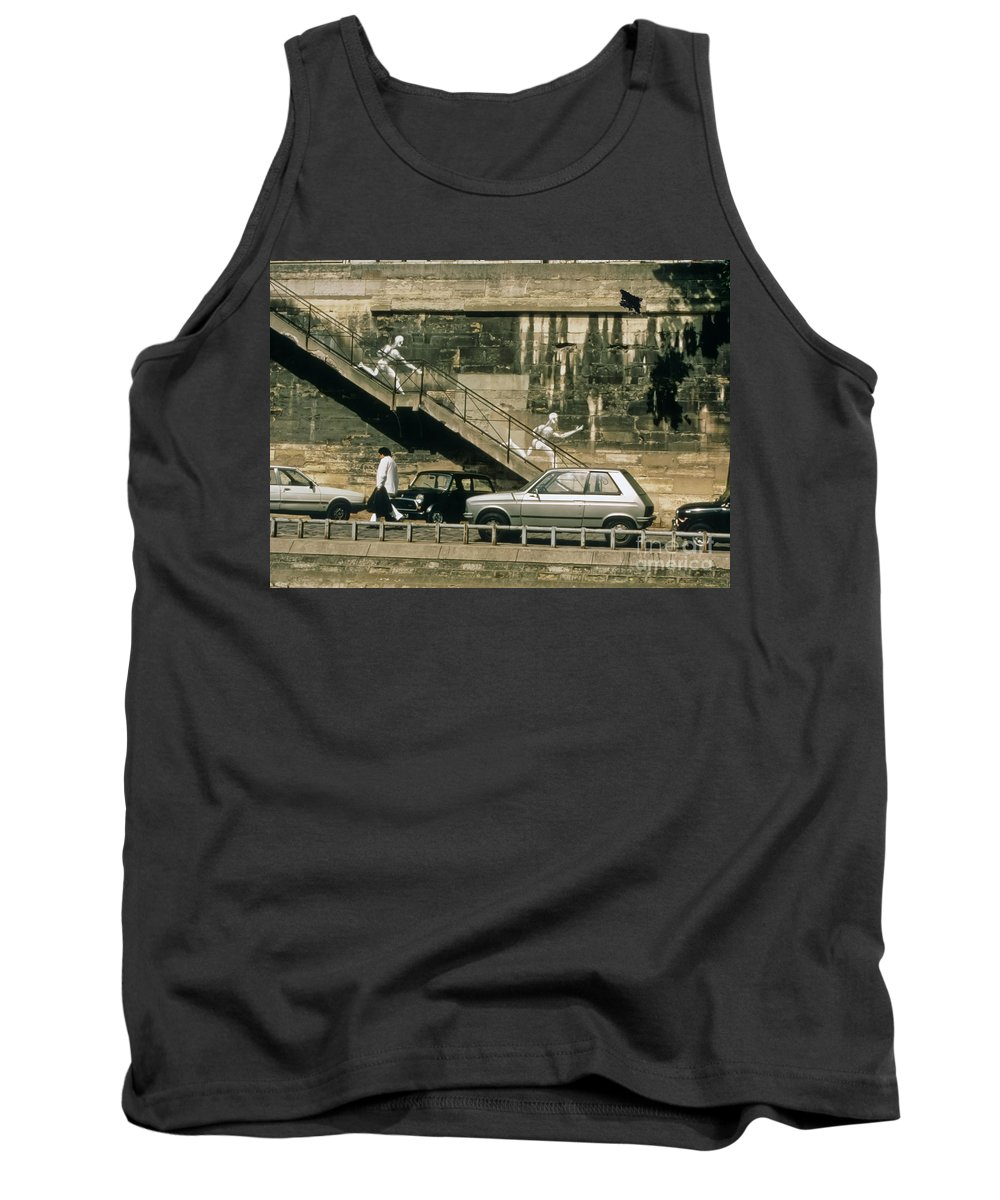 Paris Tank Top featuring the photograph Paris Wall by Thomas Marchessault