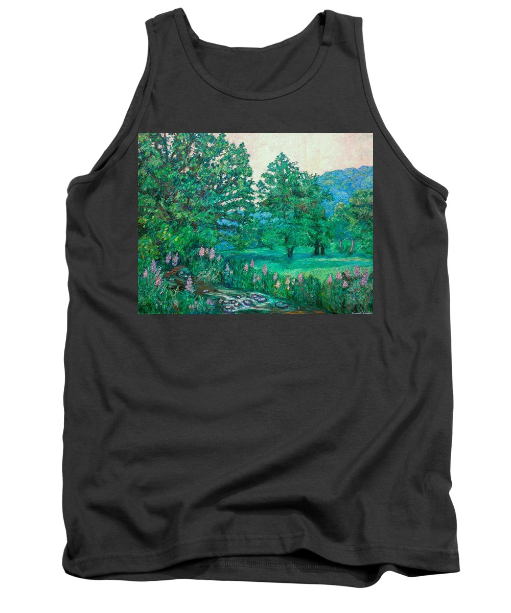Landscape Tank Top featuring the painting Park Road In Radford by Kendall Kessler