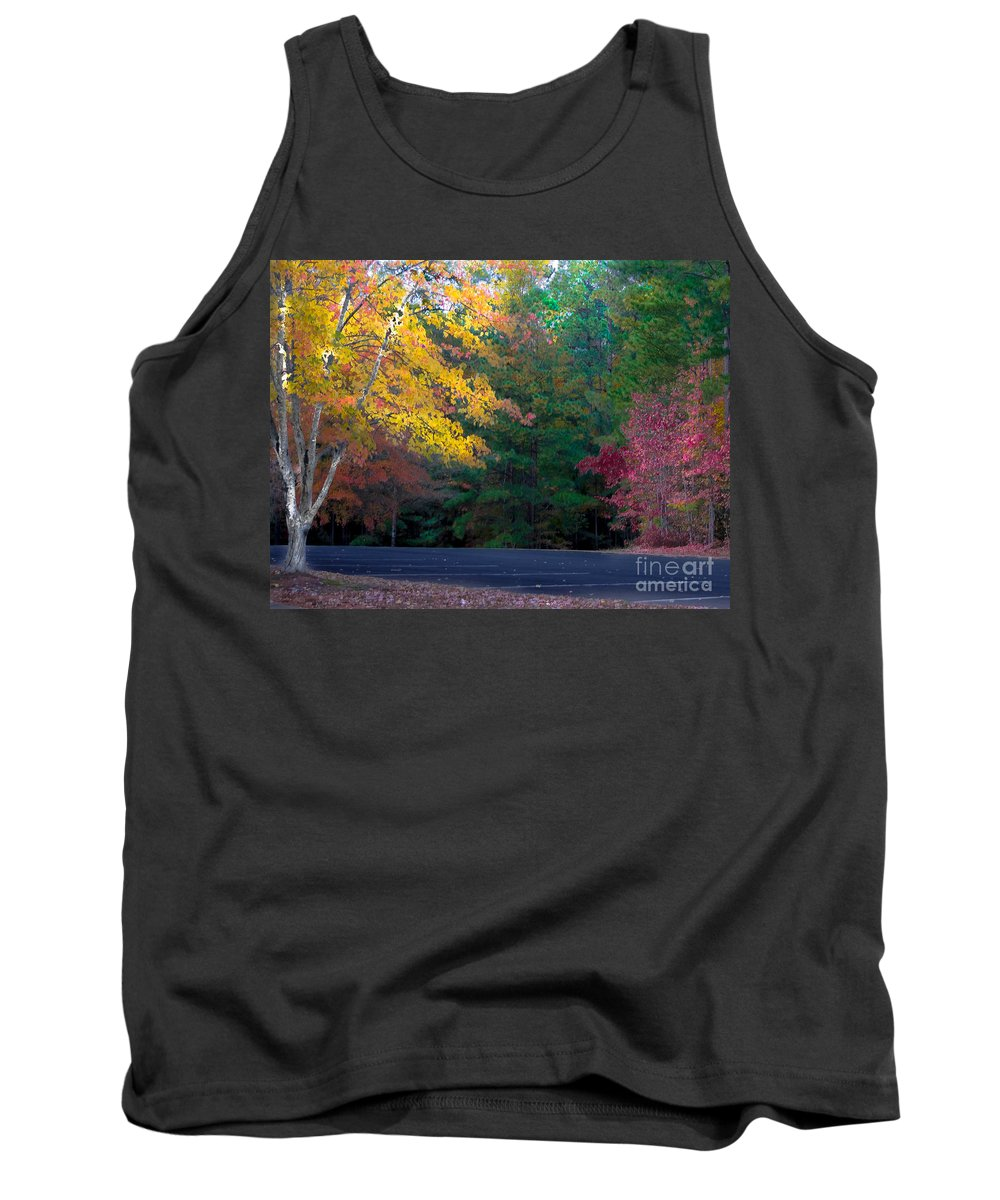 Park Tank Top featuring the photograph Parking Respit by Scott Hervieux