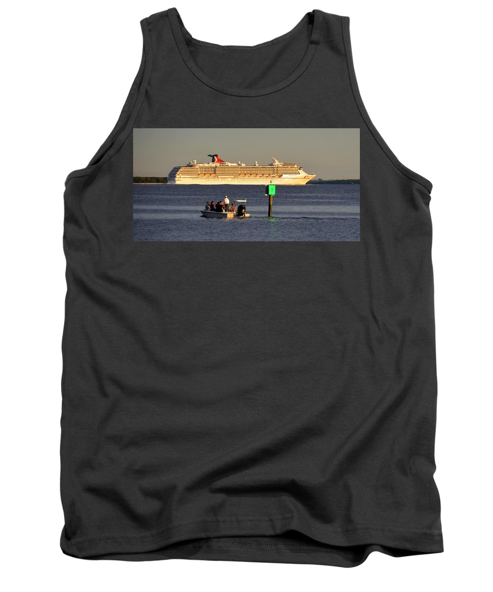 Cruise Ship Tank Top featuring the photograph Party Boats by David Lee Thompson