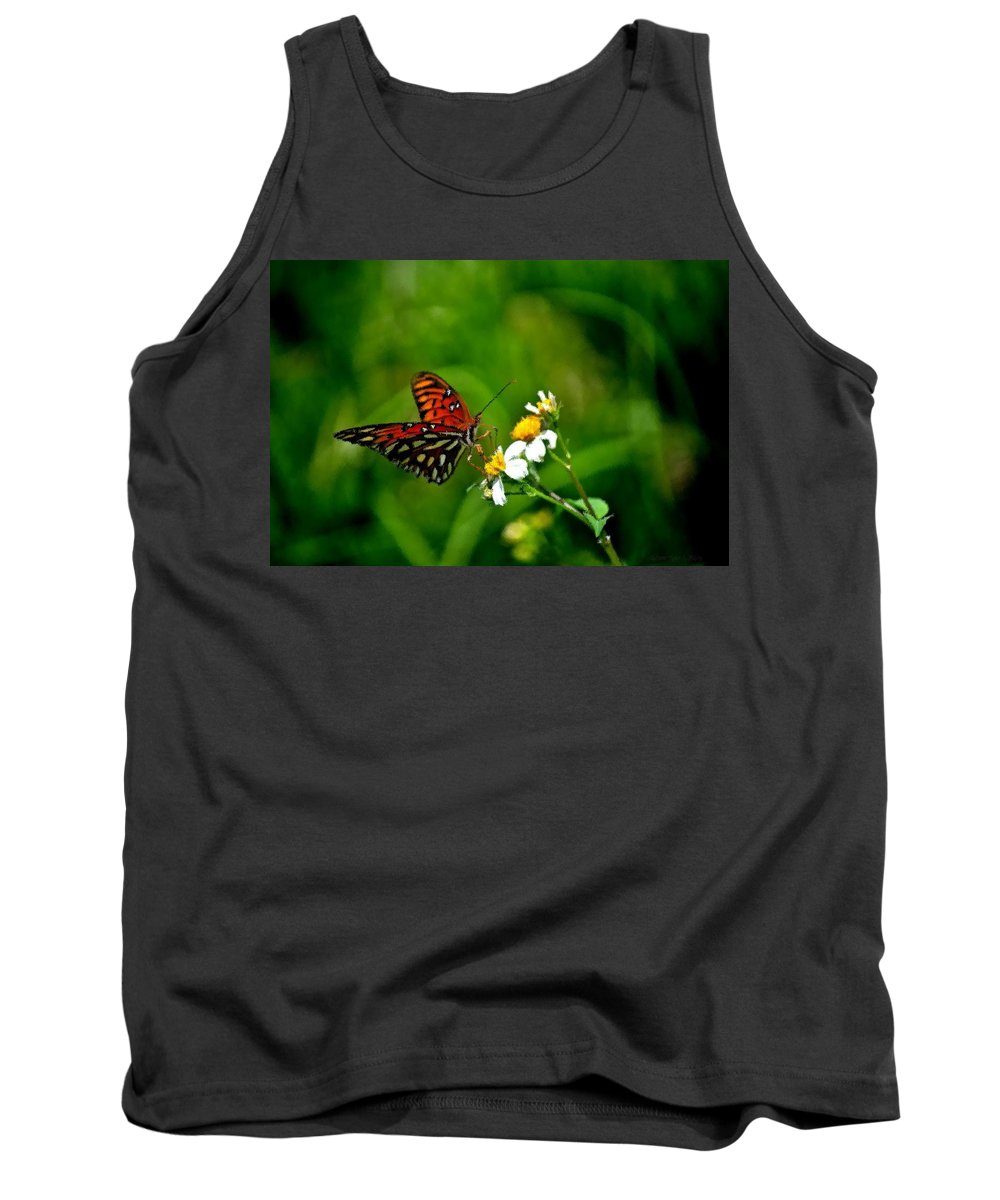 Passion Butterfly Tank Top featuring the photograph Passion Butterfly Painted by Tara Potts