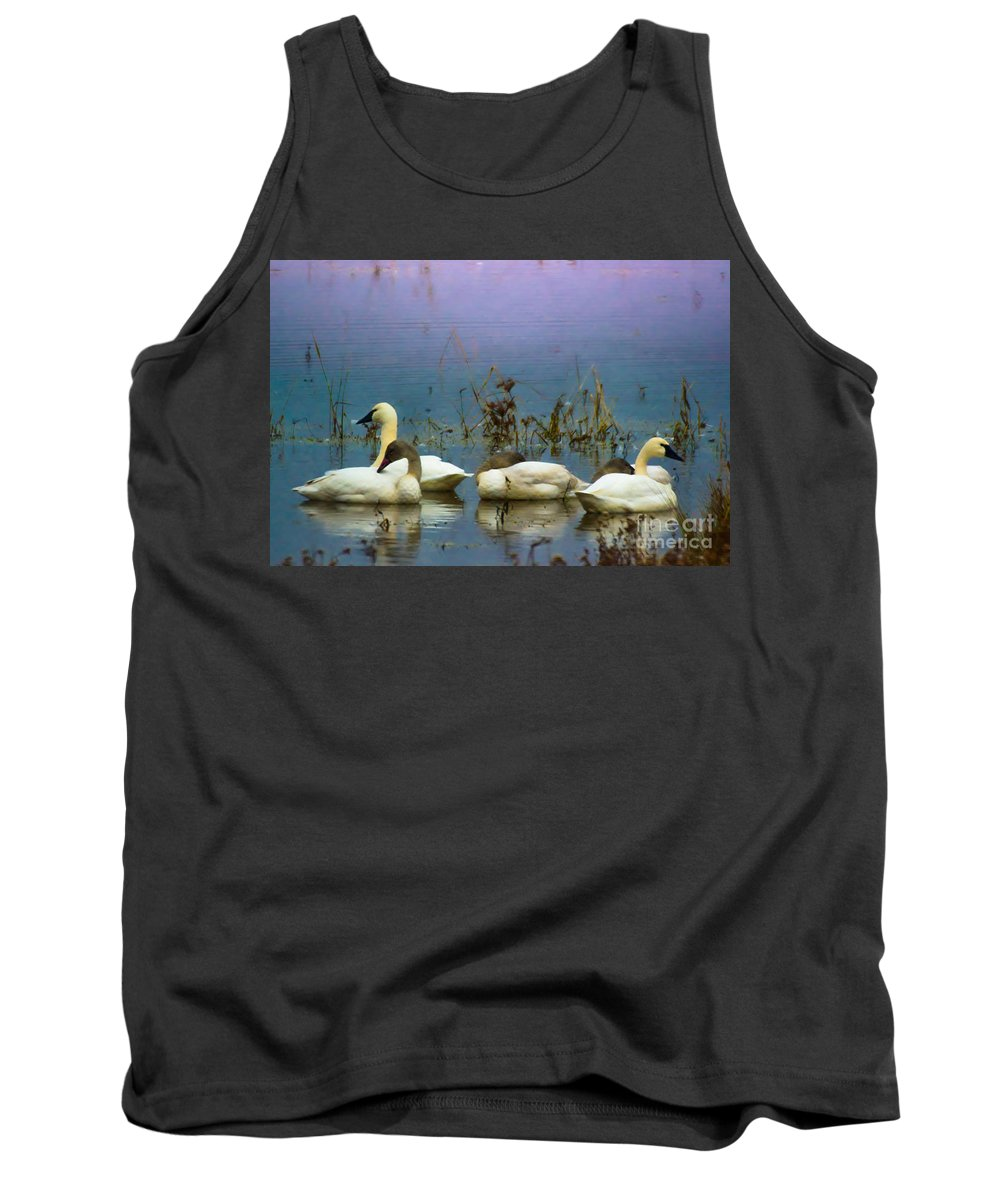 Lake Tank Top featuring the photograph Pastel Morning by Scott Hervieux