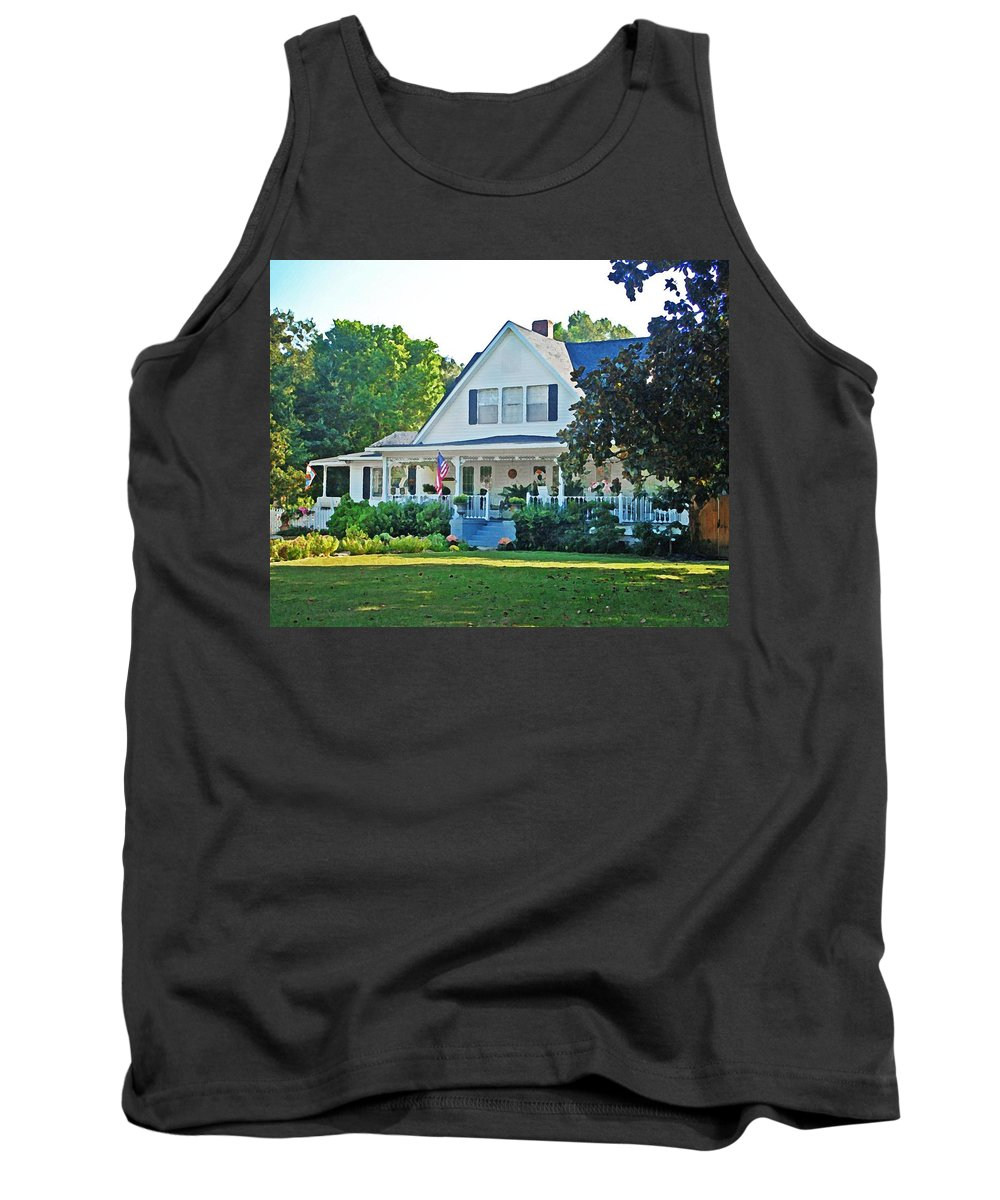 Home Portraits Tank Top featuring the digital art Pat Lee by Michael Thomas