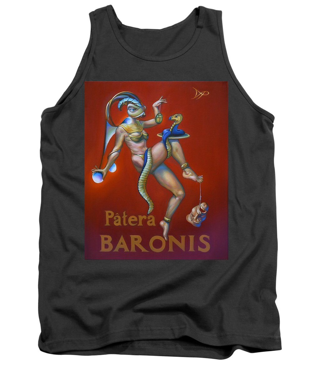 Cobra Tank Top featuring the painting Patera Baronis by Patrick Anthony Pierson
