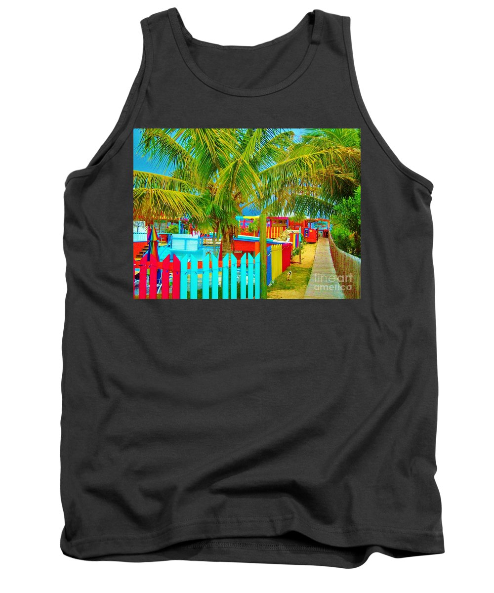 Keri West Tank Top featuring the photograph Pathway To Rum by Keri West
