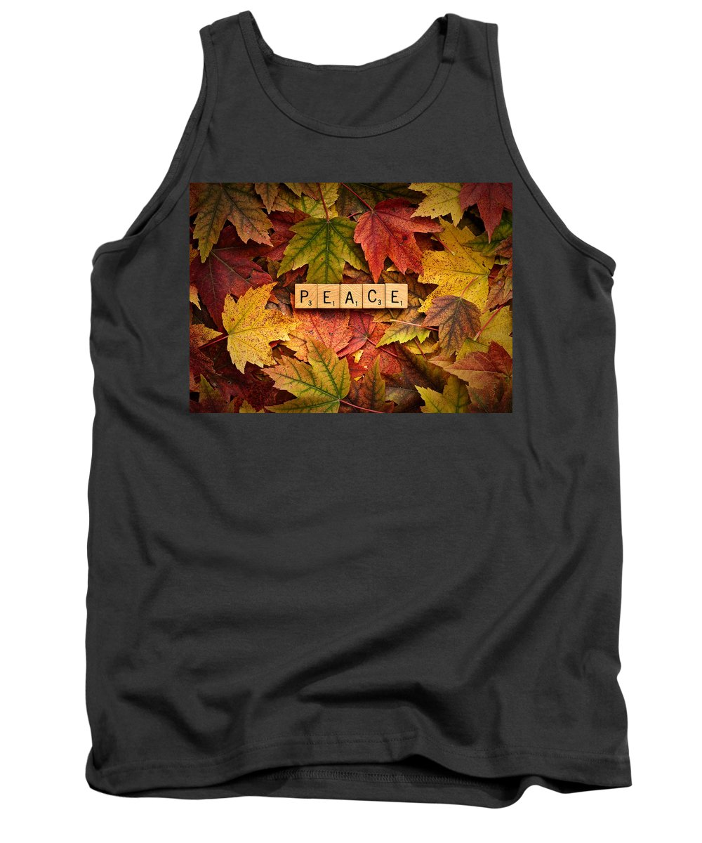 Autumn Tank Top featuring the photograph Peace-autumn by Onyonet Photo Studios