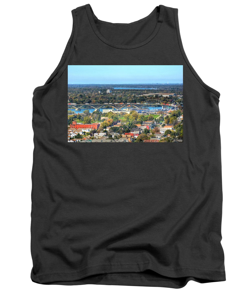 Peace Bridge Tank Top featuring the photograph Peace Bridge Autumn 2013 by Michael Frank Jr