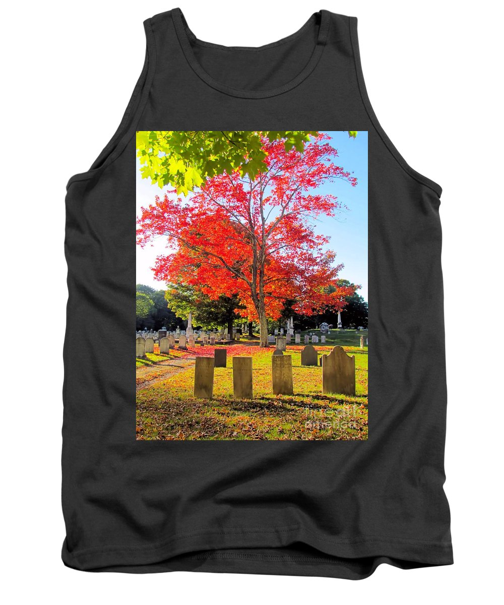 Autumn Tank Top featuring the photograph Peaceful by Elizabeth Dow