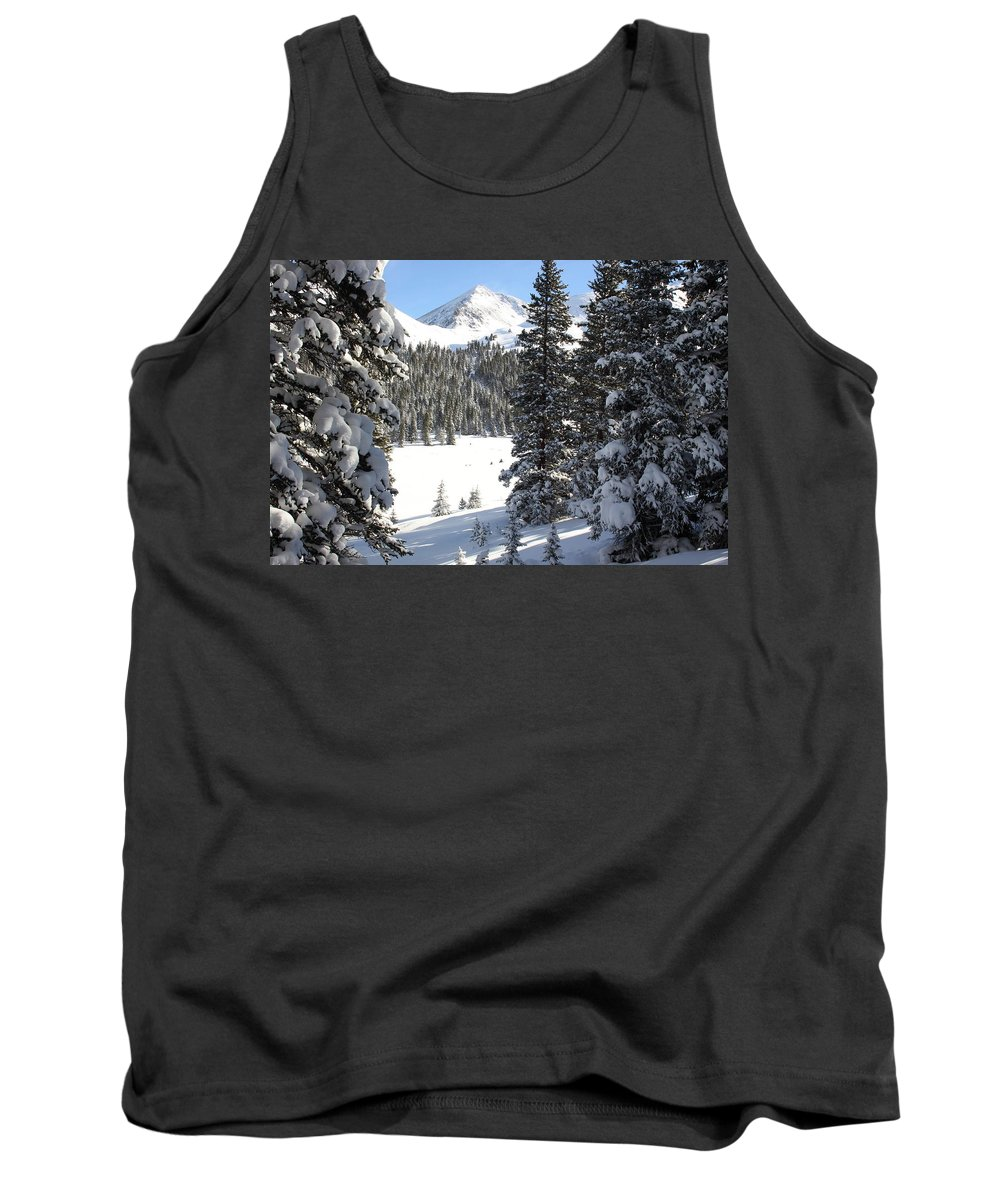Colorado Tank Top featuring the photograph Peak Peek by Eric Glaser