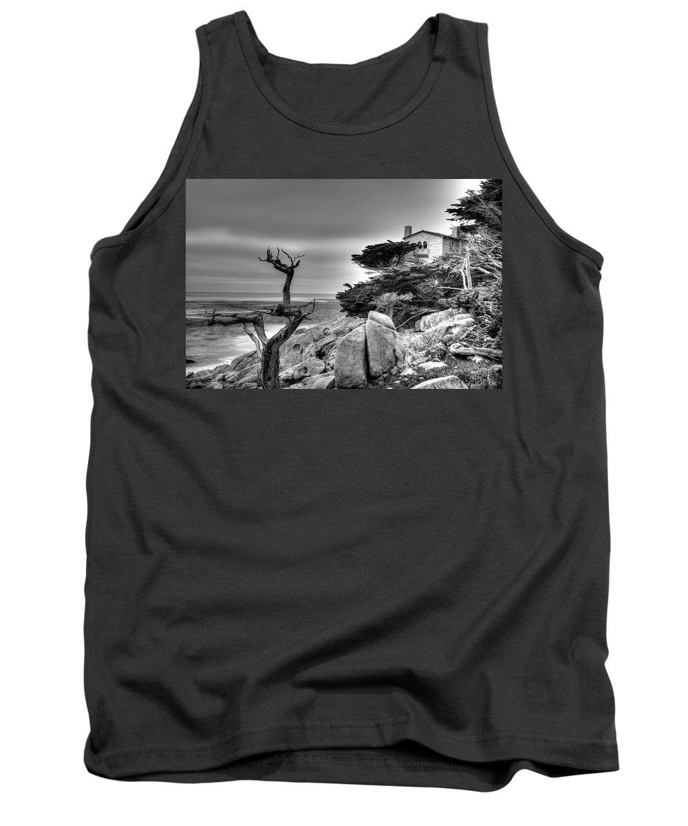 Tree Tank Top featuring the photograph Pebble Beach 2 by Richard J Cassato