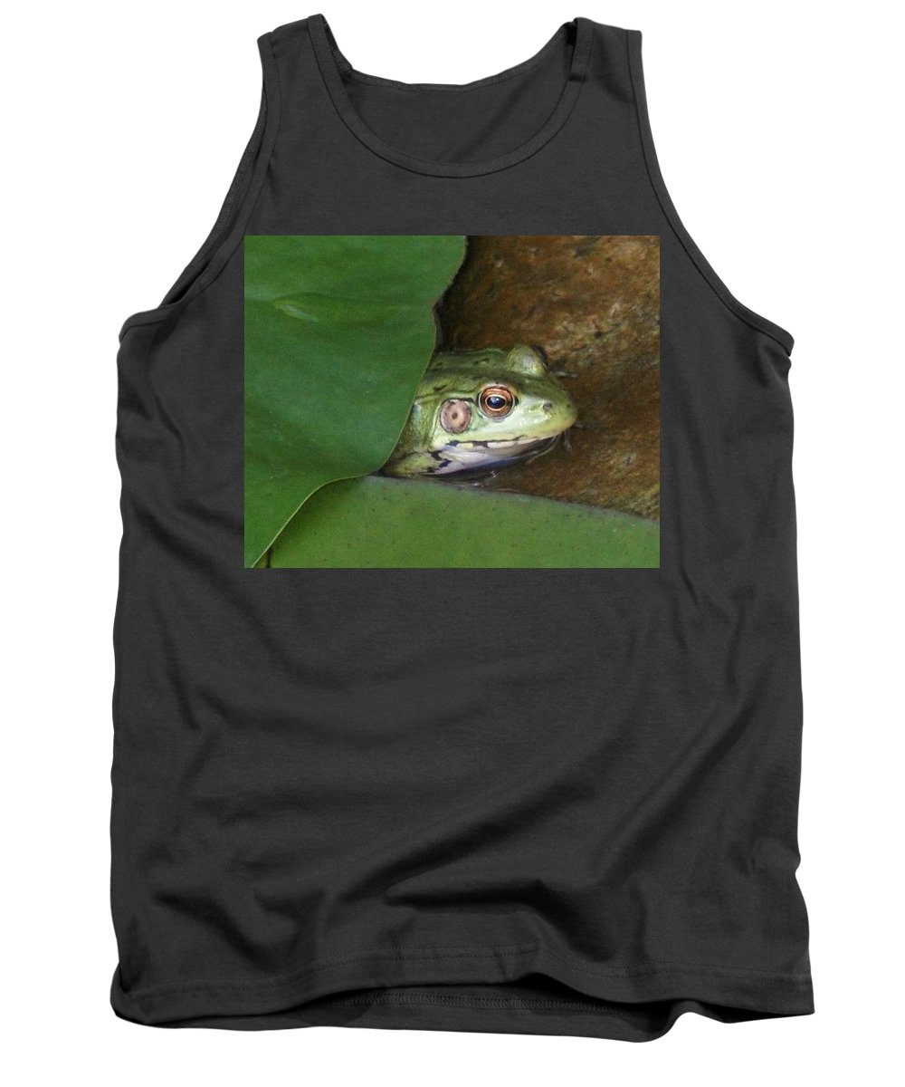 Frogs Tank Top featuring the photograph Peek A Boo Frog by Holly Eads