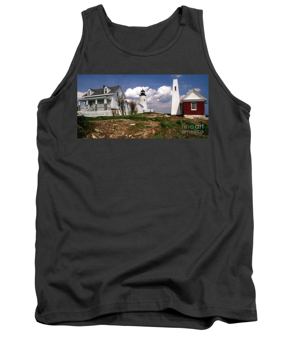 Lighthouses Tank Top featuring the photograph Pemaquid Complex by Skip Willits