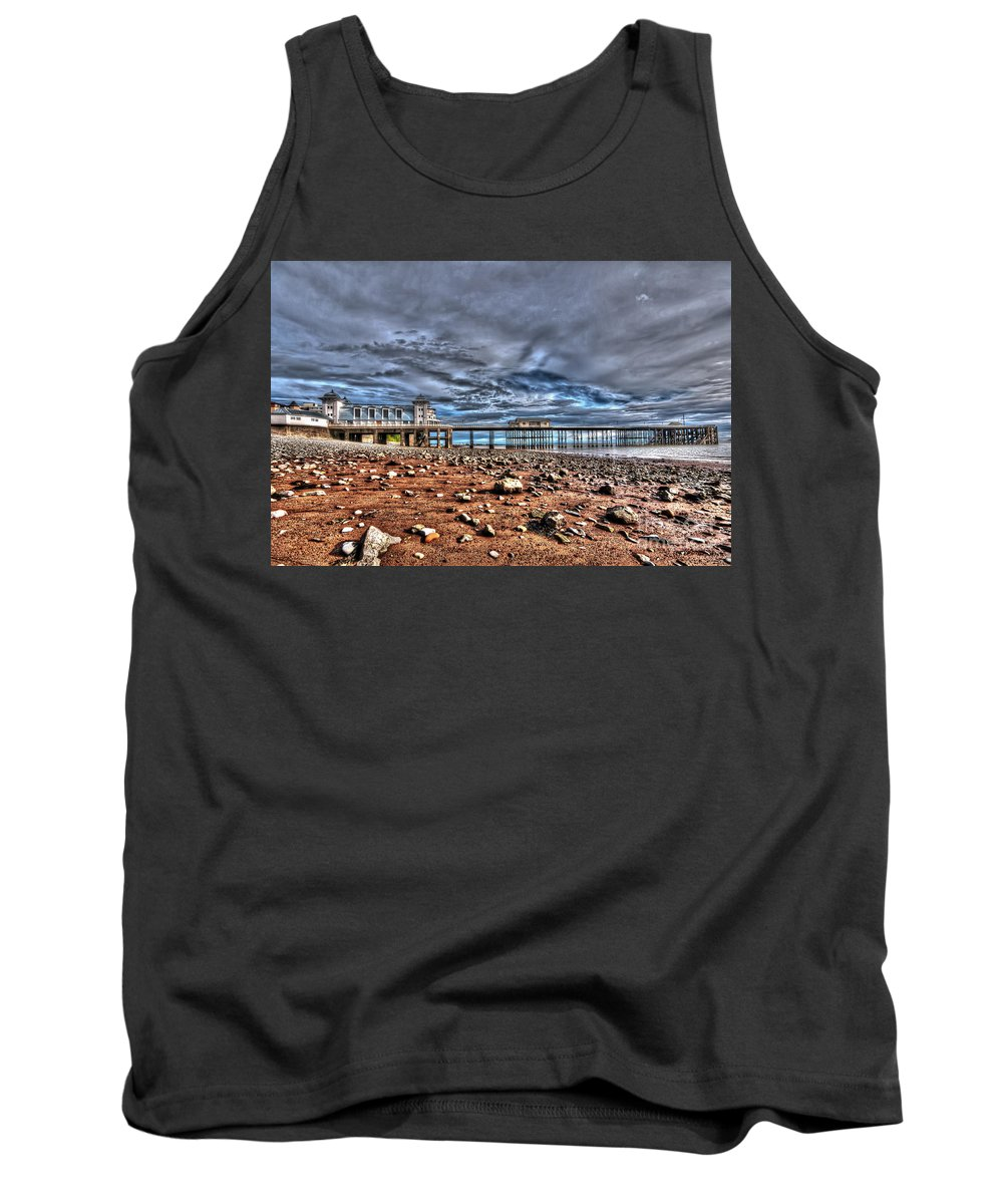 Penarth Pier Tank Top featuring the photograph Penarth Pier 7 by Steve Purnell