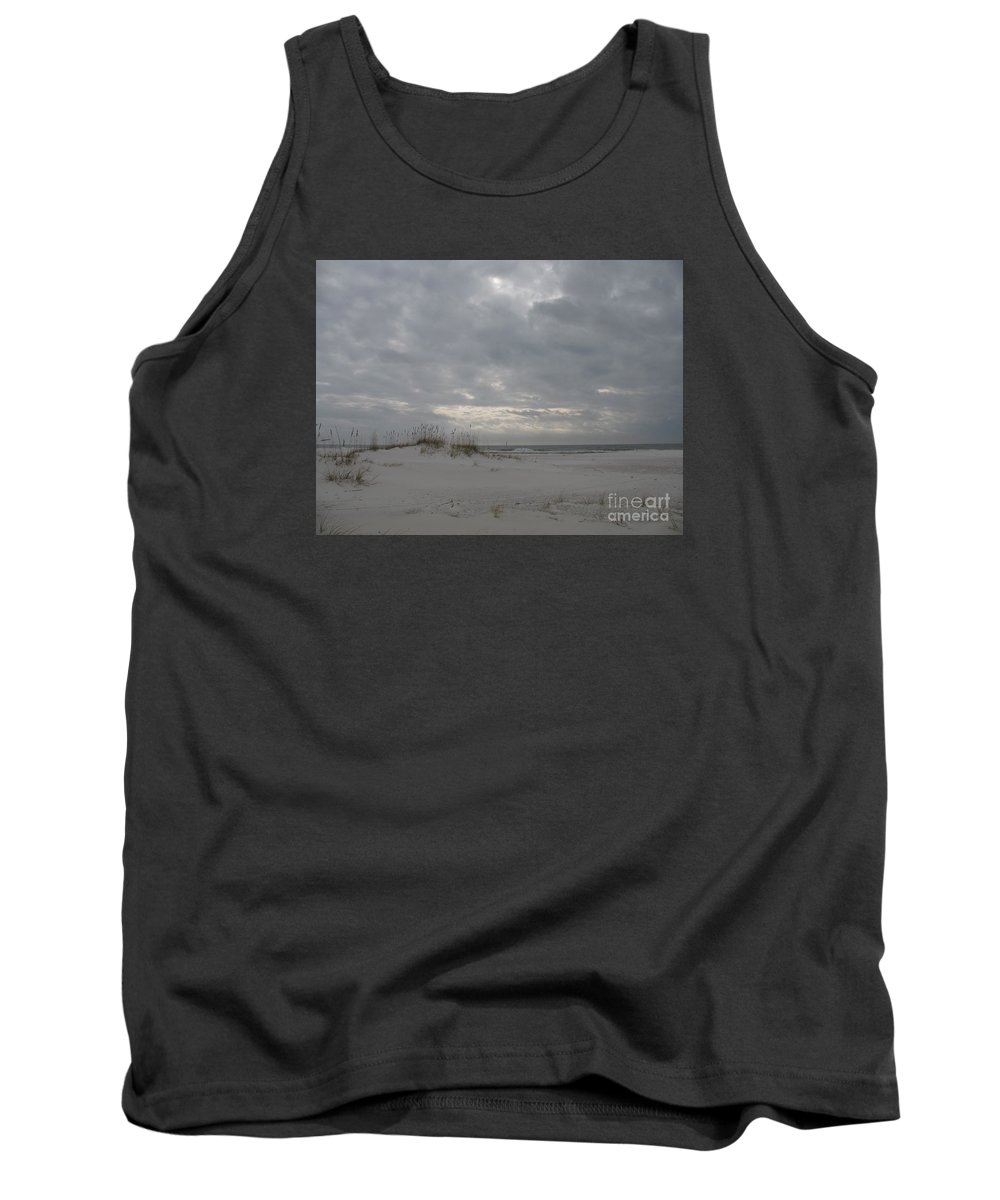 Beach Tank Top featuring the photograph Pensacola Beach After Storm by Christiane Schulze Art And Photography