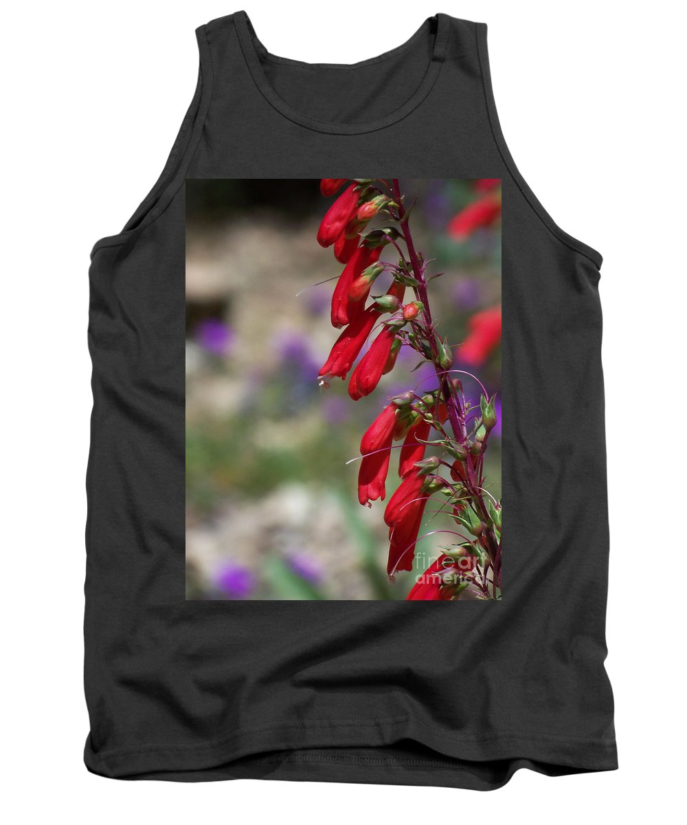 Flowers Tank Top featuring the photograph Penstemon by Kathy McClure