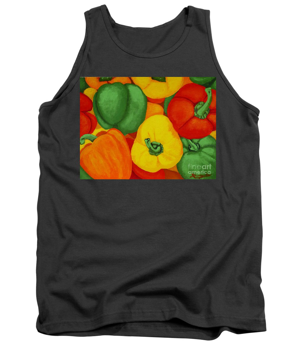 Peppers Tank Top featuring the painting Peppers by Anthony Dunphy