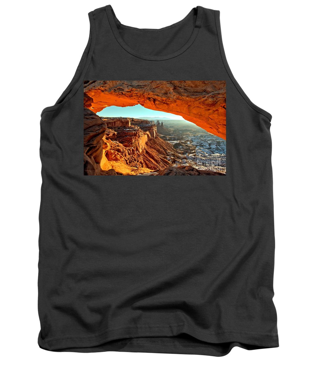Mesa Arch Sunrise Tank Top featuring the photograph Perfect Sunrise by Adam Jewell