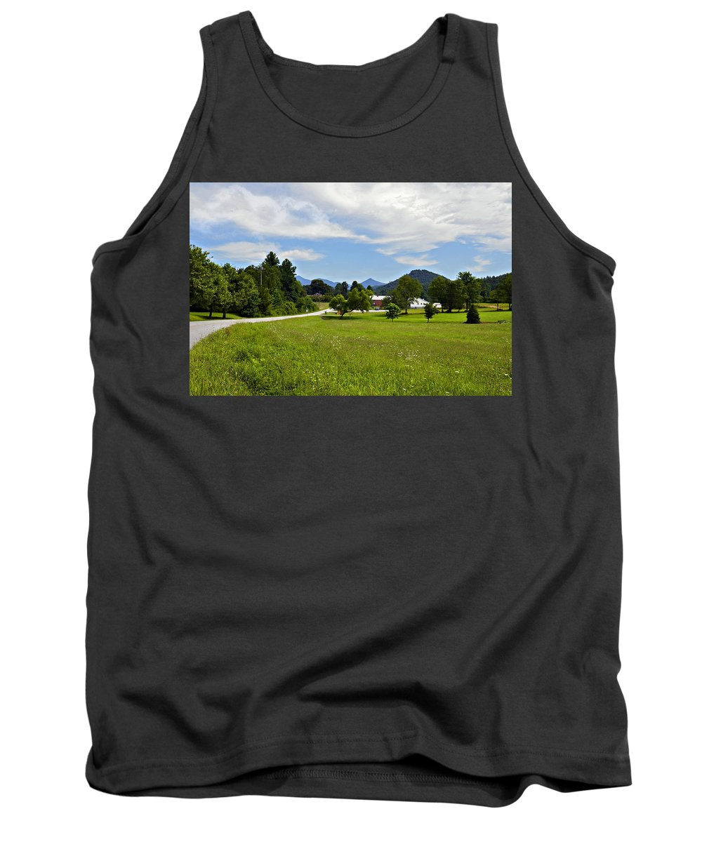 Landscape Tank Top featuring the photograph Persimmon Valley by Susan Leggett