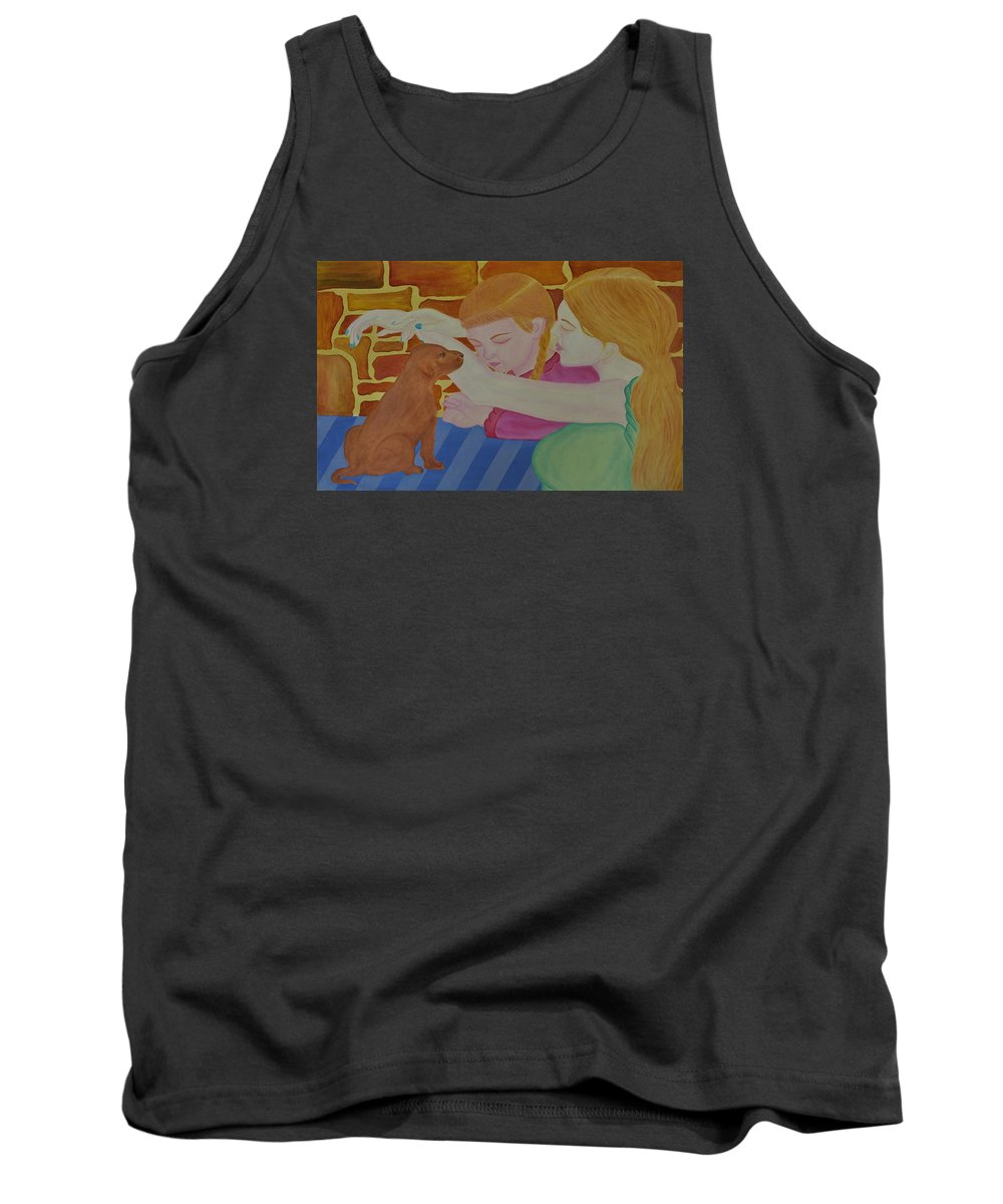 Persuasion Tank Top featuring the painting Persuasion by Bliss Of Art