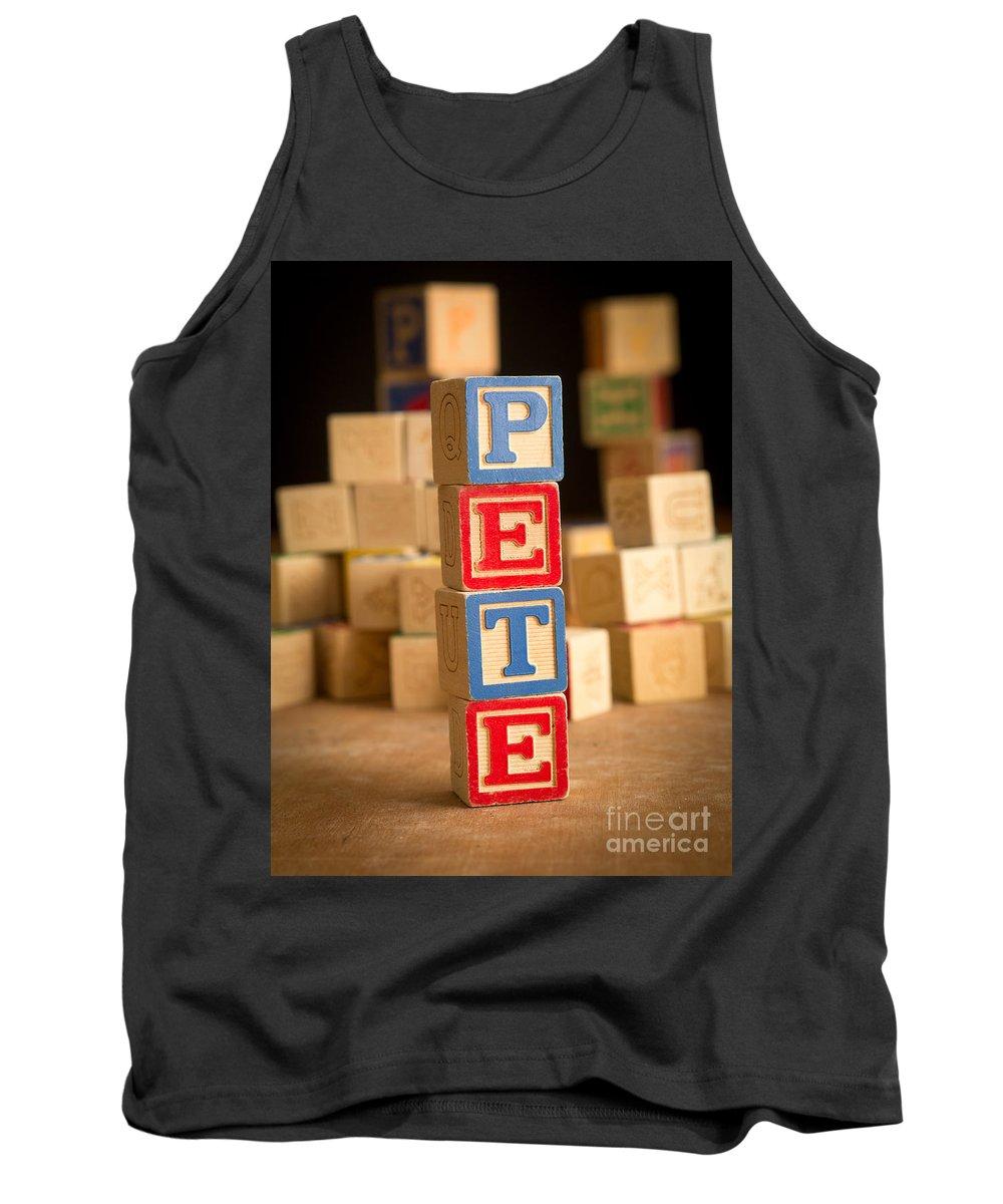Abcs Tank Top featuring the photograph Pete - Alphabet Blocks by Edward Fielding
