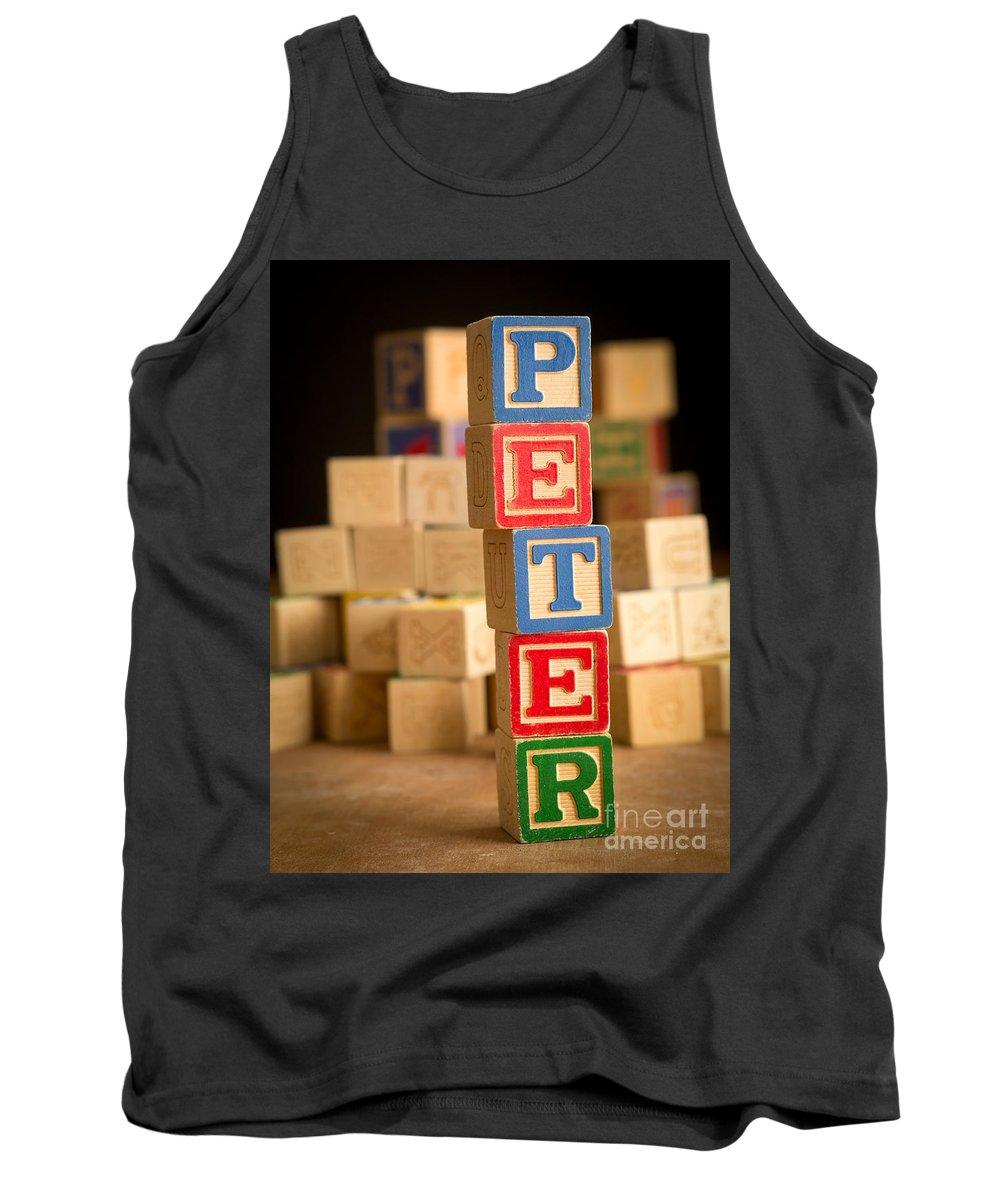 Abcs Tank Top featuring the photograph Peter - Alphabet Blocks by Edward Fielding