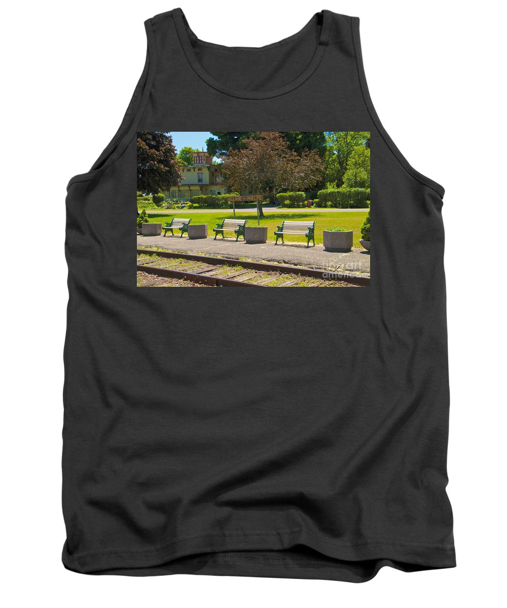 Phelps Tank Top featuring the photograph Phelps Ny Train Station by William Norton