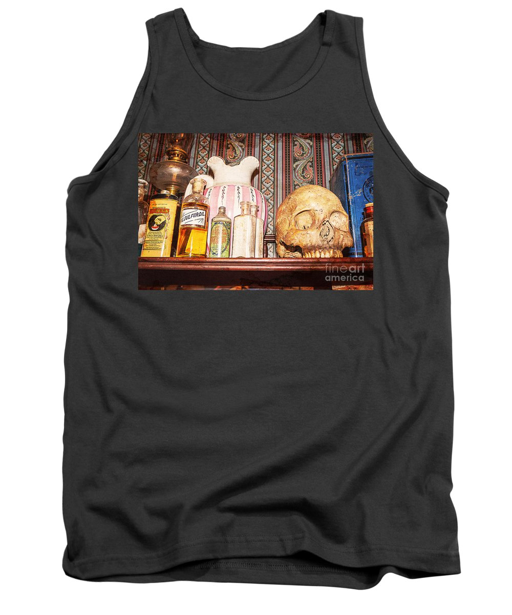 Skull Tank Top featuring the photograph Physician Heal Thyself by Janice Rae Pariza