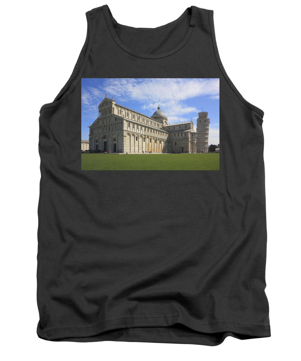 Architecture Tank Top featuring the photograph Piazza Del Duomo Pisa Italy by Ivan Pendjakov