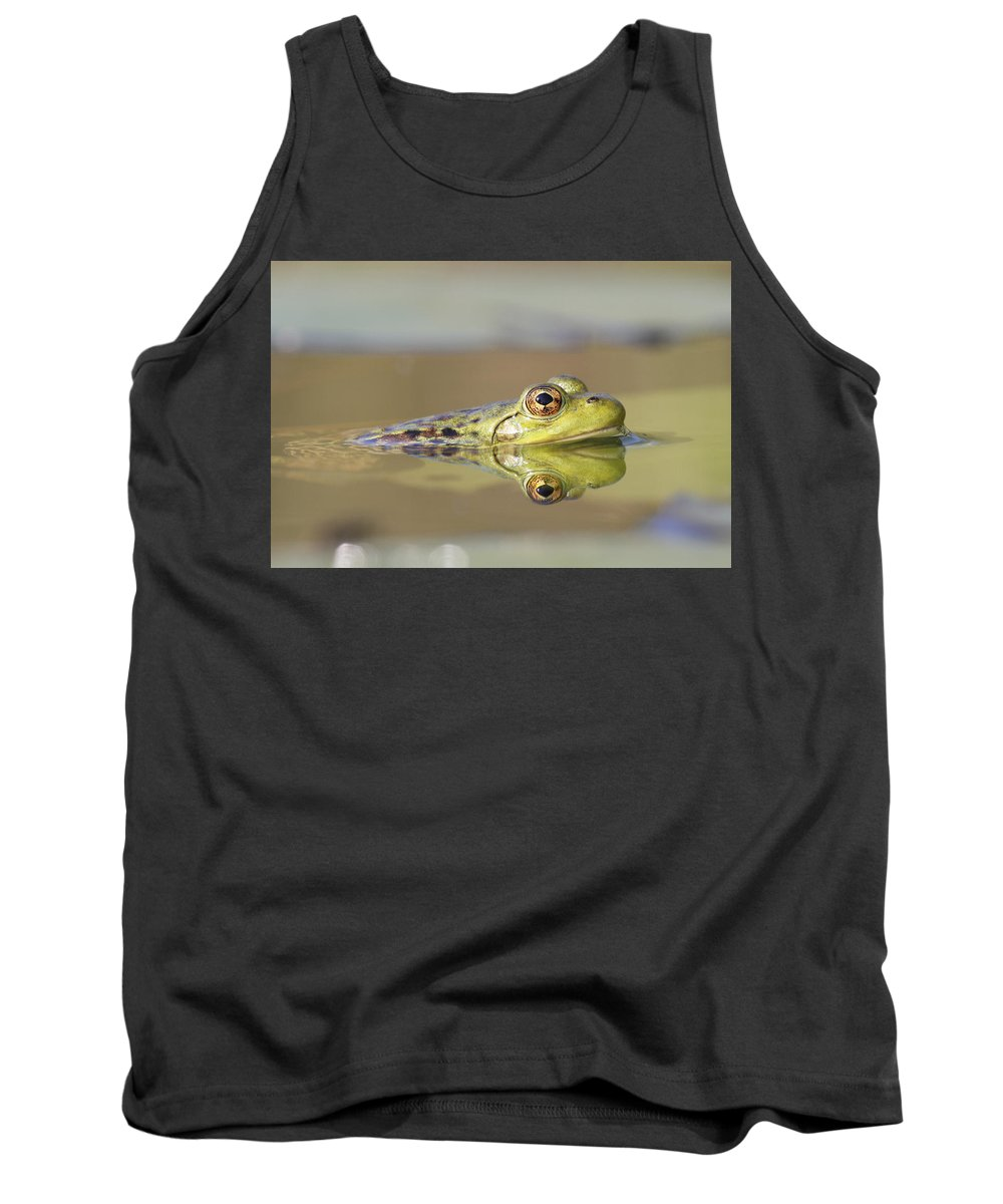 Feb0514 Tank Top featuring the photograph Pickerel Frog Nova Scotia Canada by Scott Leslie