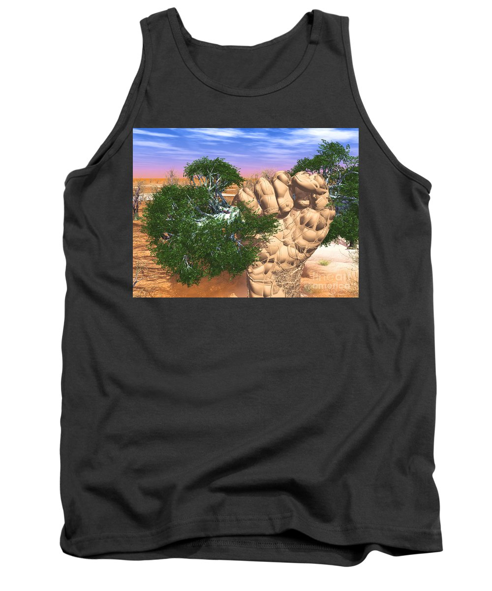 Nature Tank Top featuring the digital art Piece Of Wasteland by Eric Nagel