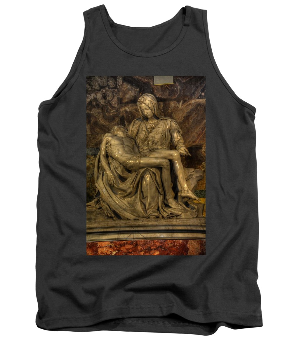 Saint Peters Tank Top featuring the photograph Pieta by Michael Kirk