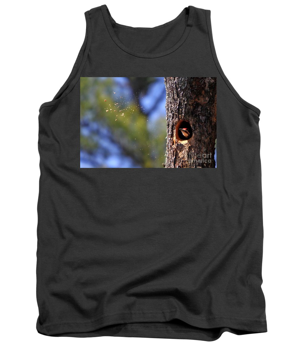 Birds Tank Top featuring the photograph Pileated Series #6 by James F Towne