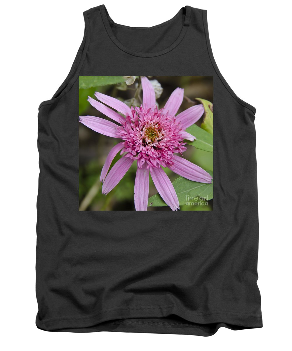 Pink Tank Top featuring the photograph Pink Double Delight Squared by Teresa Mucha