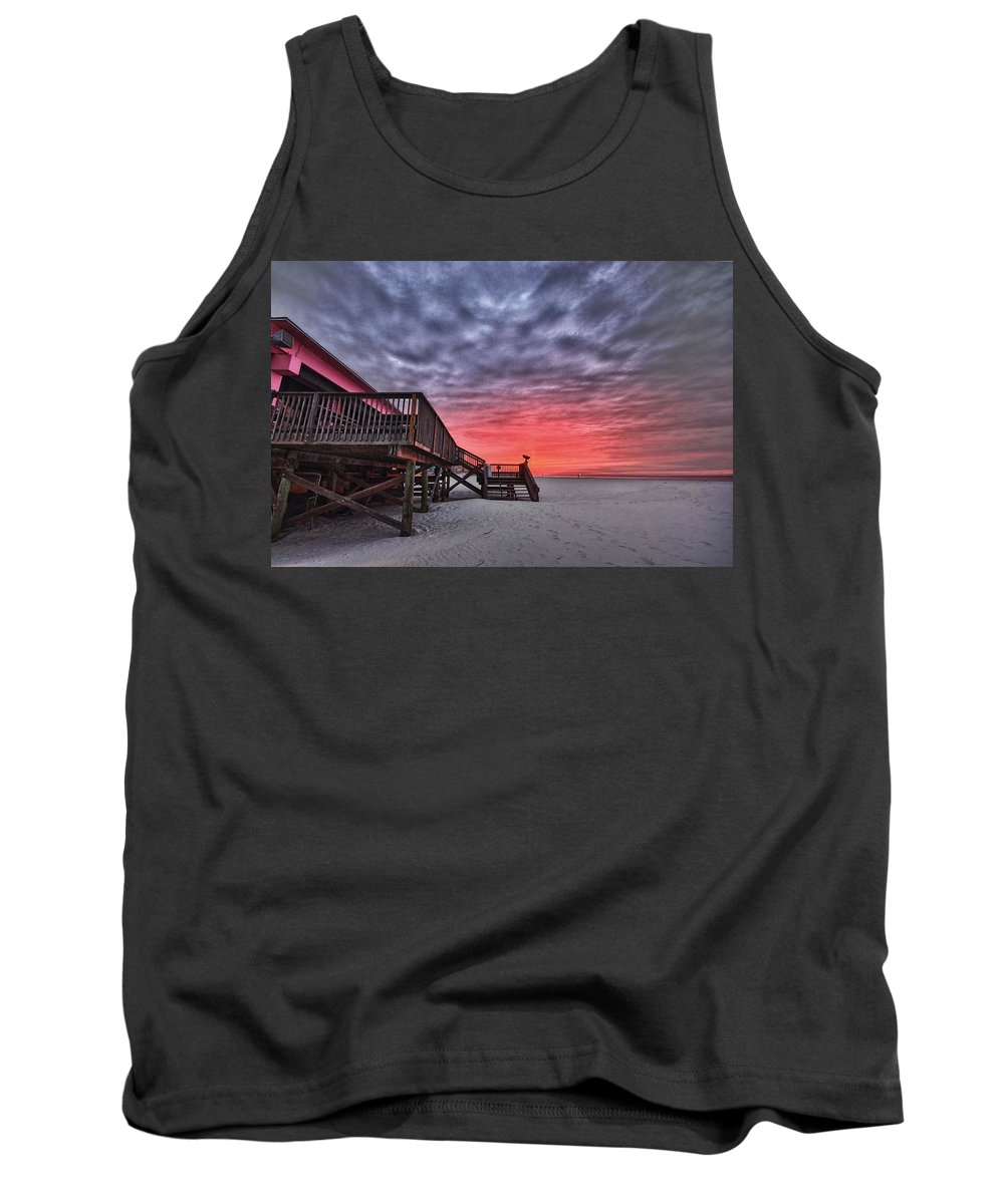 Alabama Tank Top featuring the digital art Pink Pony Morning by Michael Thomas