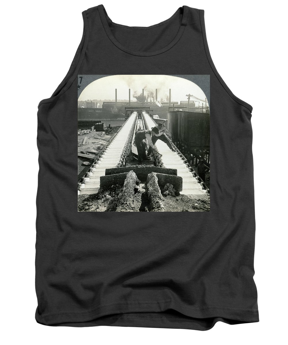 1910 Tank Top featuring the painting Pittsburgh Foundry by Granger