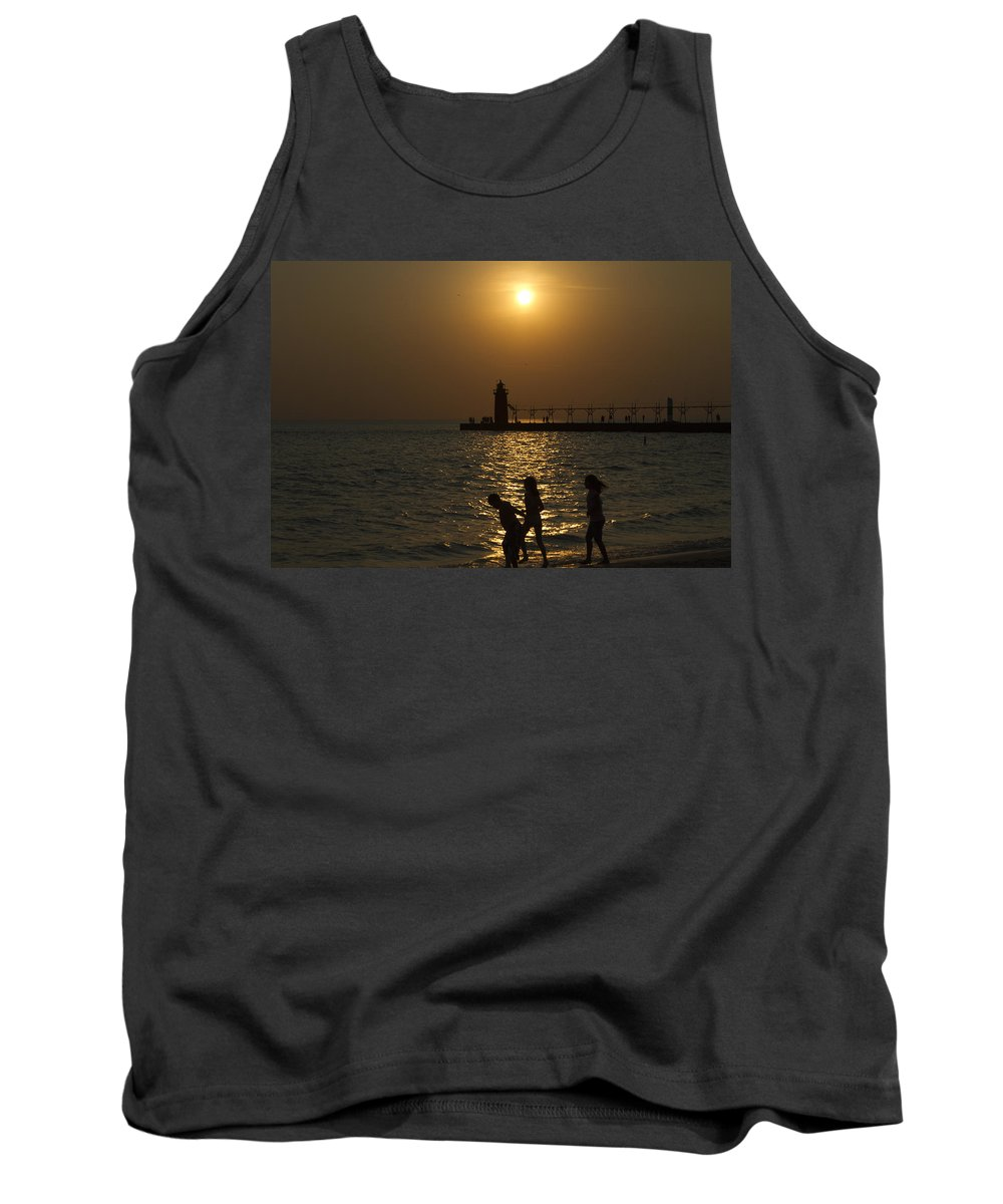 Sunset Tank Top featuring the photograph Playful Sunset by Jack R Perry