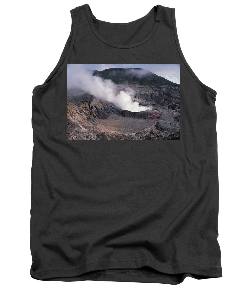 Feb0514 Tank Top featuring the photograph Poas Volcano National Park Costa Rica by Gerry Ellis