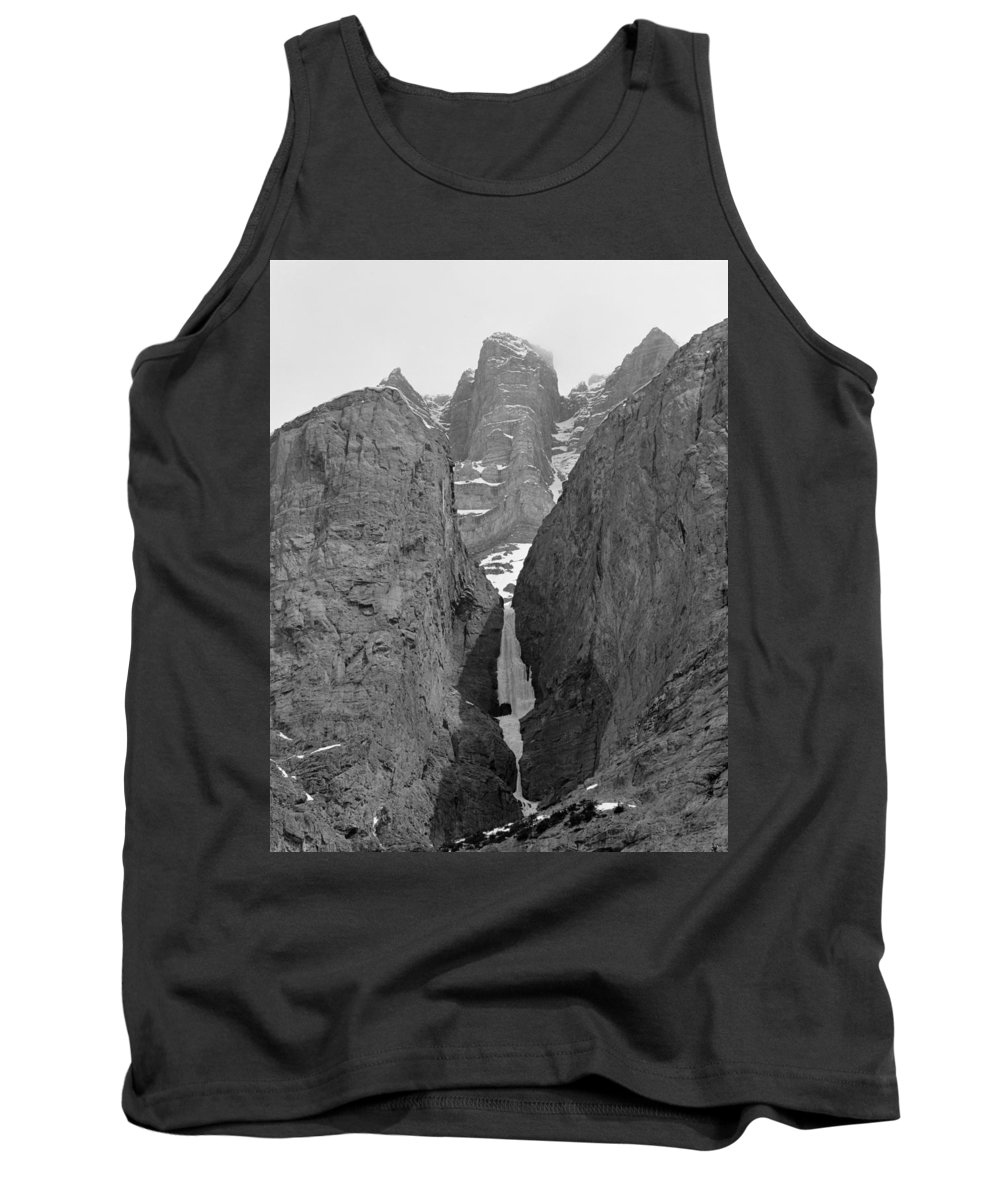 Polar Circus Ice Route Tank Top featuring the photograph 1m3649-bw-polar Circus Ice Route by Ed Cooper Photography