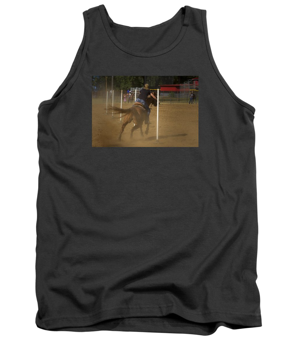 America Tank Top featuring the photograph Pole Bending by Jack R Perry
