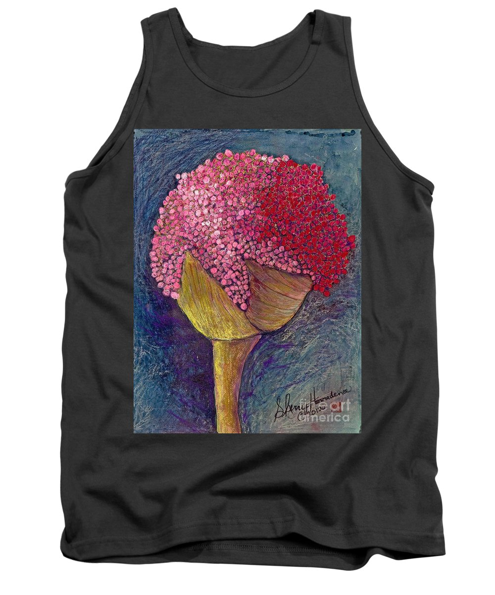 Nature Tank Top featuring the painting Pom Pom Pride by Sherry Harradence