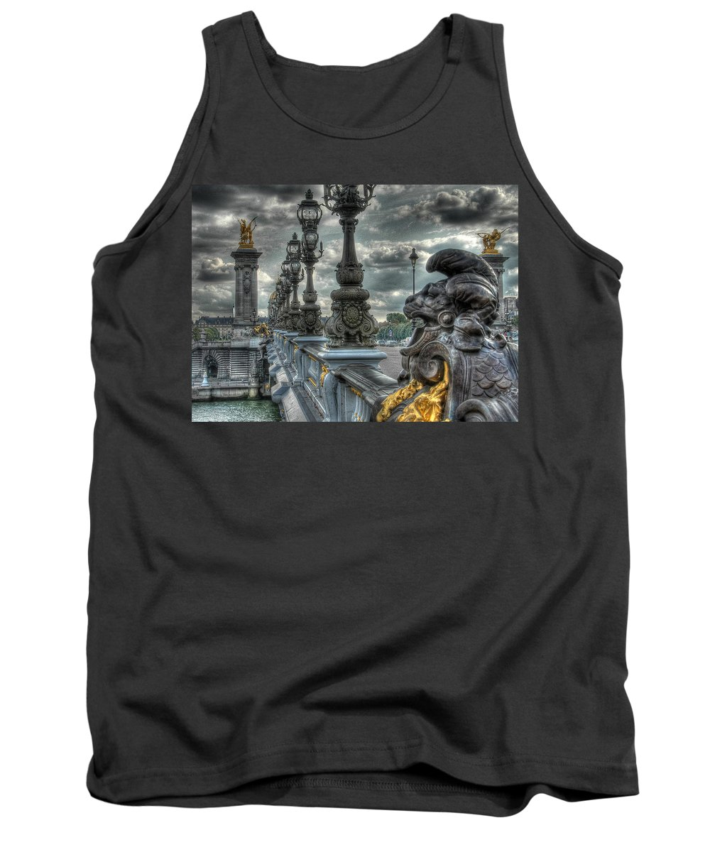 Paris Surreal Tank Top featuring the photograph Pont Alexandre IIi by Michael Kirk