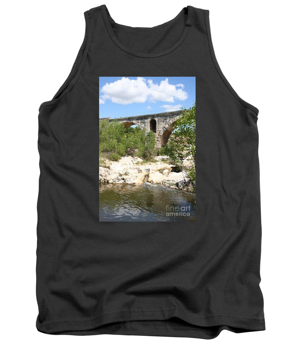Roman Stonebridge Tank Top featuring the photograph Pont St. Julien And River by Christiane Schulze Art And Photography
