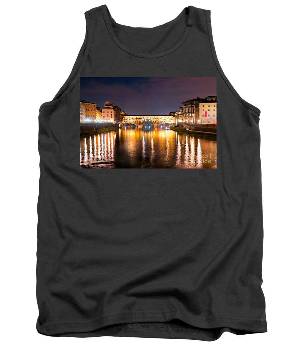 Ancient Tank Top featuring the photograph Ponte Vecchio - Florence by Luciano Mortula