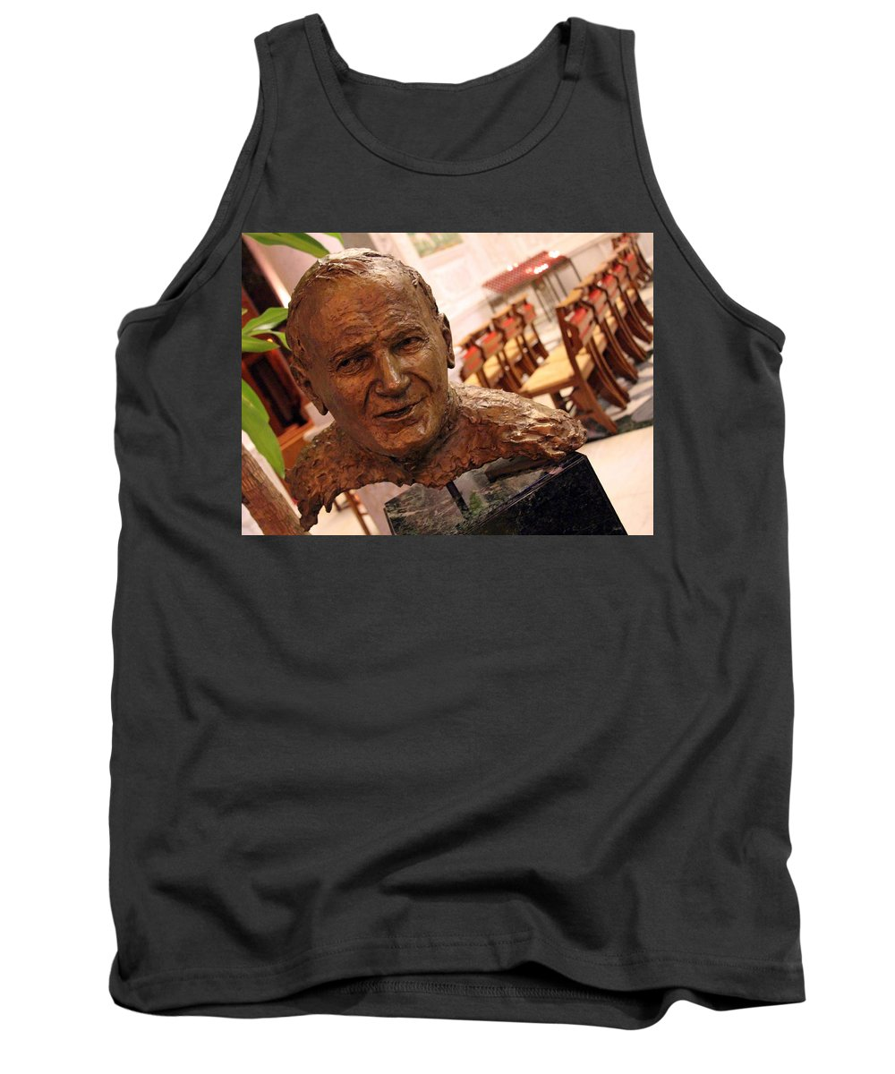 John Tank Top featuring the photograph Pope John Paul II In St. Matthew's Cathedral -- 2 by Cora Wandel