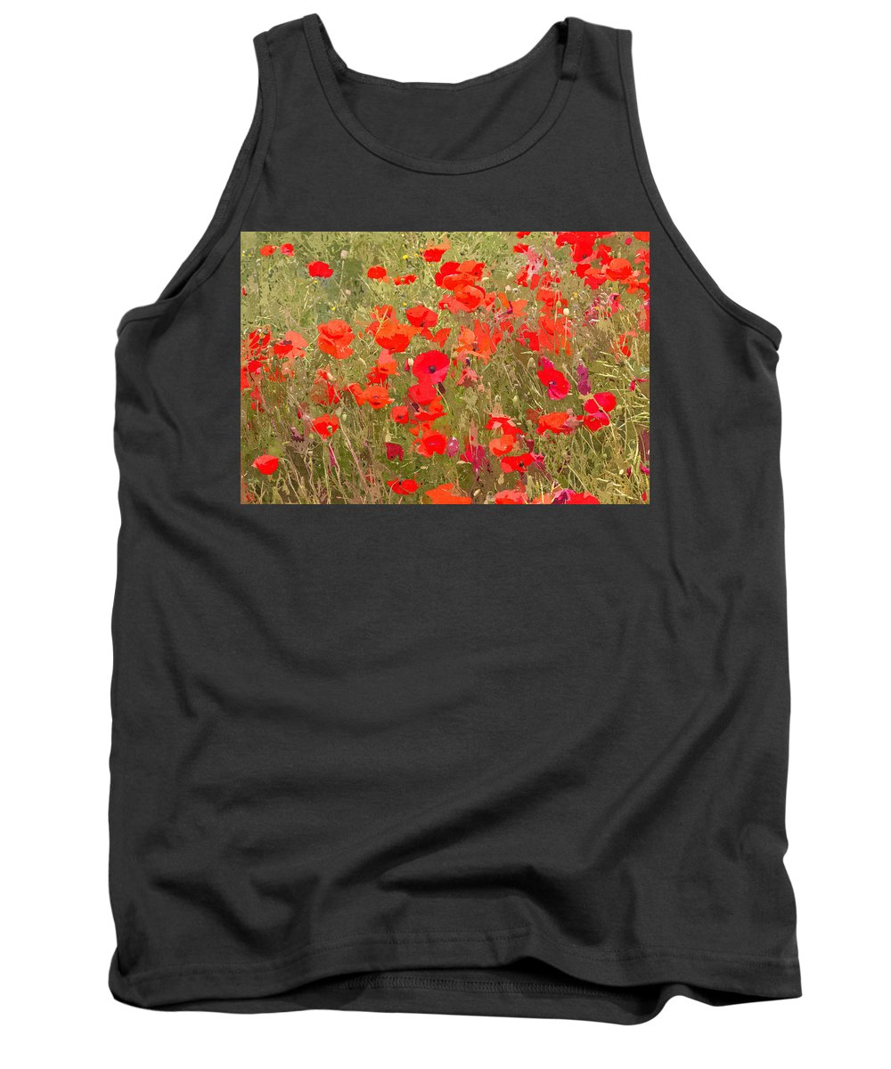 Remembrance Tank Top featuring the photograph Poppies Vii by David Pringle