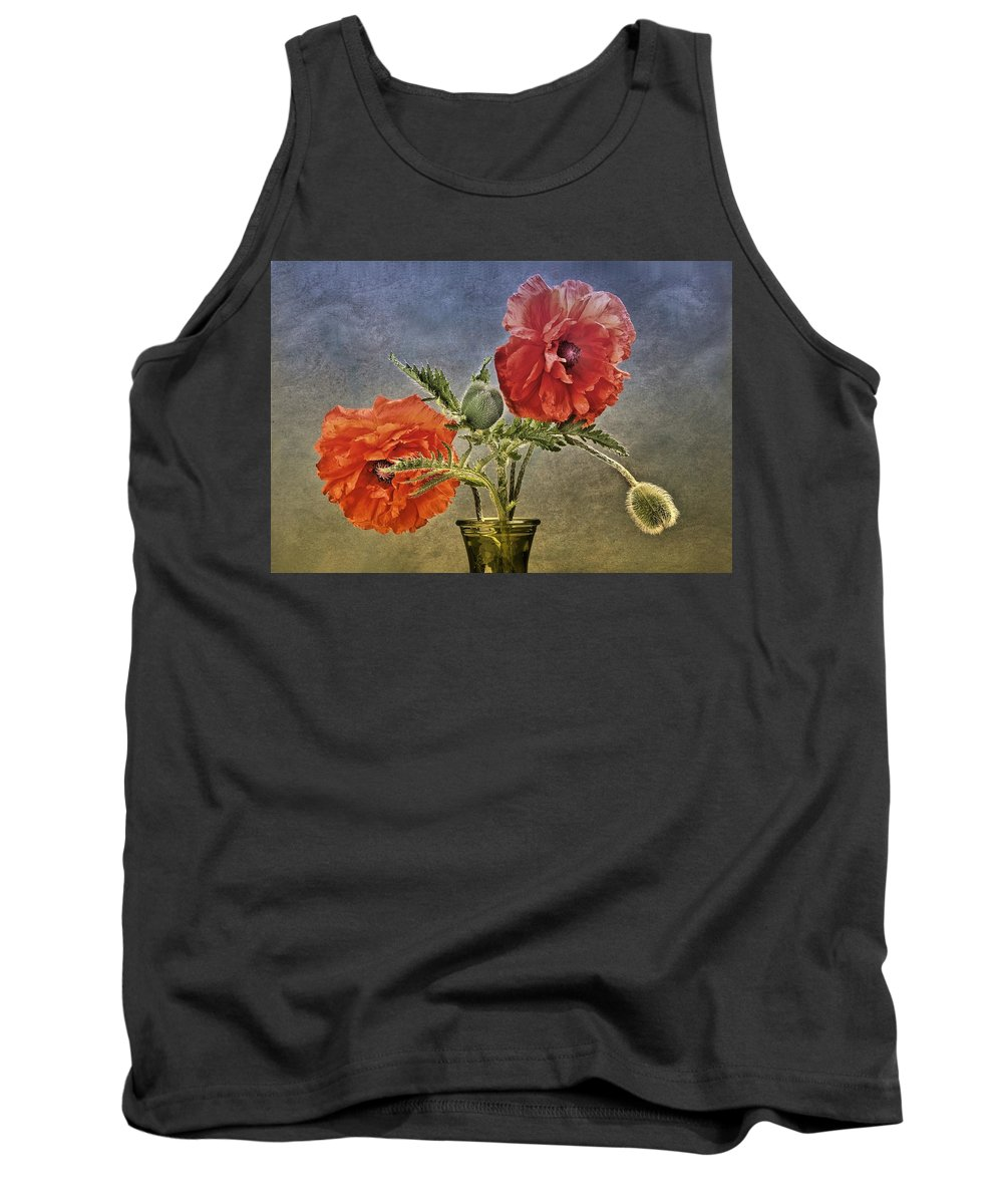 Poppy Tank Top featuring the photograph Poppy Flowers by Manfred Lutzius