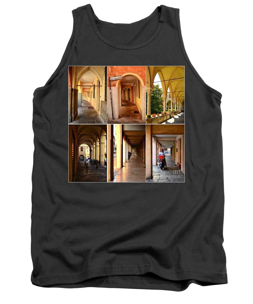 Italy Tank Top featuring the photograph Porticos Of Padua No 4 by Sabine Jacobs